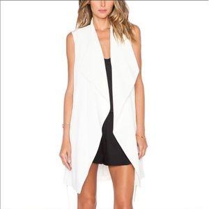 Vince sleeveless draped vest thingy